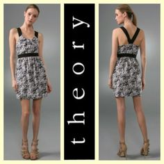 Theory $65 Raiku watercolor print day-to-evening silk dress sz.S #buynow www.tpopshop.nyc  Tribeca Consignment
