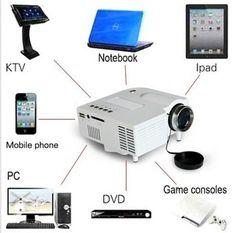 Mini Home Cinema Theater 1080P HD Multimedia USB LED Projector AV TV VGA HDMI JD