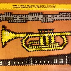 Flute, trumpet and clarinet perler beads by perlerobsessed