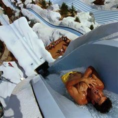 Disney's Blizzard Beach Slide - Summit Plummet. Hit speeds of 50 - 60 mph. I'm a lazy river kind of person myself.