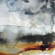 """found-fabricated: """"Weekend #drawing #ink #abstract #landscape """""""