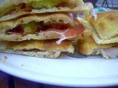 colazione romana--pizza, prosciutto, e fichi settembrini