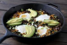 Paleo Breakfast Skillet by barerootgirl #Breakfast #Eggs #Avocado #Butternut_Squash #Spinach #Bacon