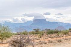 Christmas hat on a mountain, Olturot, Marsabit, Northern Kenya.