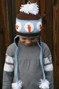 cute snowman hat