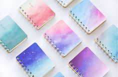 Mini Galaxy Notebook Starry Sky Notebook Cute Pocket