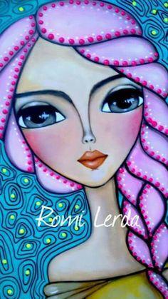 Painting People, Painting For Kids, Arte Pop, Art Journal Pages, Whimsical Art, Art Plastique, Face Art, Portrait Art, Beautiful Paintings