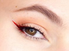 Red cat eye. Pair with red lips for unapologetic warpaint.