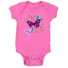 Papillons Baby Bodysuit on CafePress.com