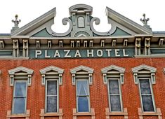 a detail of the south facade of Plaza Hotel
