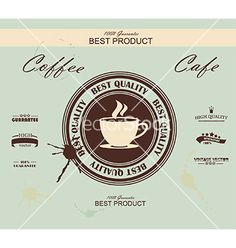 Retro vintage coffee background with typography vector by Success_ER on VectorStock®
