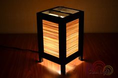 Bamboo Lamp Thai Vintage Wooden Table Lantern Bamboo by Siamlights