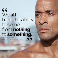 David Goggins quotes and life lessons will change you forever. But he's the toughest athlete on the planet today. Motivational Quotes For Success, Great Quotes, Inspirational Quotes, Men Quotes, Life Quotes, Qoutes, People Quotes, Music Quotes, Wisdom Quotes