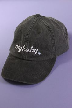 71c2bc00bdba6 Crybaby Black Baseball Cap Wash Baseball Cap