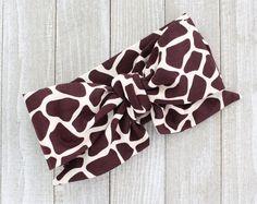Giraffe head wrap bow