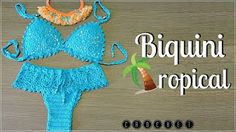 Knitting and Bordado Bikinis Crochet, Crochet Bra, Crochet T Shirts, Crochet Bikini Top, Crochet Girls, Crochet Clothes, Crochet Bathing Suits, Beginner Crochet Tutorial, Bra Pattern