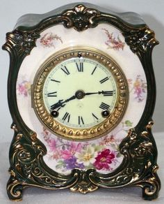 THIS CLOCK IS IN EXCELLENT CONDITION AND IT HAS A CATHEDRAL GONG STRIKE. THE ANSONIA PORCELAIN ROYAL BONN CLOCK MEASURES. THE BACK OF THE CASE HAS THE MODEL NAME AND THE ROYAL BONN STAMP. THE CLEAN PORCELAIN DIAL HAS FIRED-ON BLACK ENAMELED NUMBERALS AND IT IS SIGNED. | eBay!