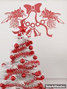 Vinilos Decorativos: deco Navidad con camapanas. Decorar escaparate tienda #escaparate #decorar #navidad #vinilo #cristal #nieve #tienda #bar #restaurante #TeleAdhesivo