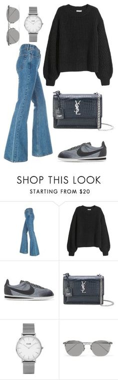 """""""Untitled #2132"""" by kellawear on Polyvore featuring NIKE, Yves Saint Laurent, Topshop and Linda Farrow"""
