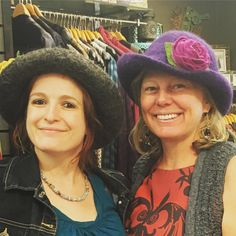 Proud to have the beautiful hand felted Hats by local artist, Daniela Knapp, back in stock at Jacque Michelle Gifts & Fashion!
