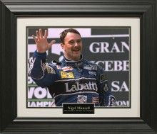 Nigel Mansell Photo Matted and Framed