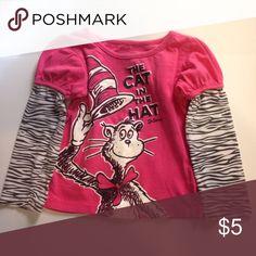 Dr. Seuss Cat In The Hat Shirt Long Sleeve a Shirt Shirts & Tops Tees - Long Sleeve