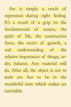"rom ""The Art Spirit"" by Robert Henri."