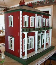 Antique English Fretwork Dollhouse from curleycreekantiques on Ruby Lane Diy Barbie Furniture, Diy Furniture, Vintage Stuff, Vintage Toys, Antique Dollhouse, New Dolls, Miniture Things, Birdhouses, Ruby Lane