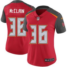 Women's Nike Tampa Bay Buccaneers #36 Robert McClain Red Team Color Vapor Untouchable Limited Player NFL Jersey