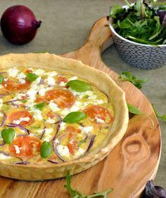 Tarte de tomate, queijo de cabra e manjericão | Tomato, goat cheese and basil tart