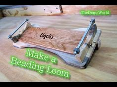 Make a Beading loom for a nice gift or for yourself - YouTube