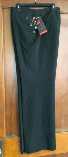 Style & Co Stretch City Pants Wide Leg Onyx Black Size 16 Polyester Blend NWT #StyleCo #CityPants #Business Size 16, Wide Leg, Legs, City, Business, Pants, Black, Style, Trouser Pants
