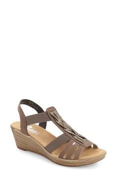 Rieker Antistress 'Fanni 79' Espadrille Wedge (Women) available at #Nordstrom