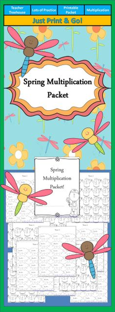 This quick, no prep multiplication packet contains 26 pages.  • Times 0, Times 1, Times 2, Times 3, Times 4, Times 5, Times 6, Times 7, Times 8, Times 9, Times 10, doubles • Two versions for each (one vertical and one horizontal). • Cover page for student name.