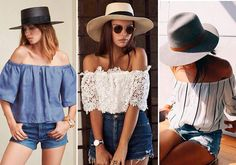 """Decote ombro a ombro ou top """"ciganinha"""" é um dos destaques da moda verão 2017"""
