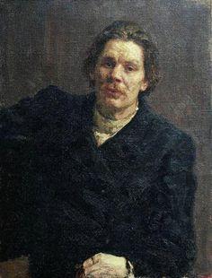 'Portret van Maksim Gorki', 1899 / Ilja Repin (1844-1930) / Russisch Museum, St. Petersburg, Rusland.