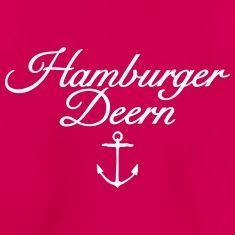 Hamburger Deern Teenager T-Shirt Klassisch Anker (