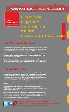 Controla el gasto de energía de los #electrodomesticos #infografia #ahorro #consejos