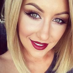 Dark lips with a dramatic eye is really in for the fall and winter time. This sets the feeling of fall and winter.