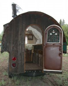 Gypsy wagon, cute in garden as fort/tree house-ish thing