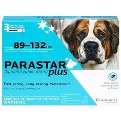 Parastar Plus 3pk 89132lb Flea  Tick by Novartis by Novartis * Details can be found by clicking on the image. (This is an affiliate link)
