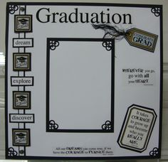 graduation  Scrapbook Layouts | Scrapbook Page Gallery - Scrapbooking by Lisa and More
