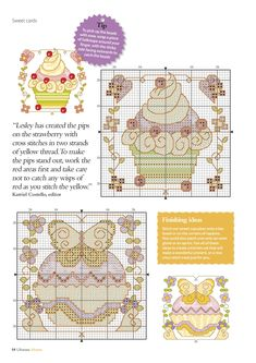 Cute As A Cupcake (Lesley Teare) From Ultimate Cross Stitch Home Vol.8 2016 3 of 5