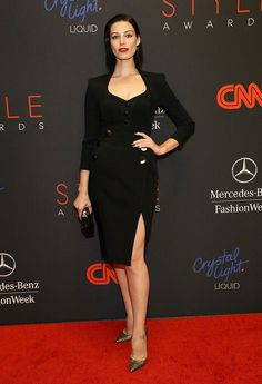 Jessica Pare on the 2013 Style Awards red carpet