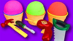 3 Ice Cream Cups Kinetic Sand with toys inside learn colors Cream Cups, Ice Cream, Funny Songs, Kinetic Sand, Learning Colors, Coloring For Kids, Make It Yourself, Toys, No Churn Ice Cream