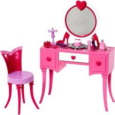 Is it bad I want all the Barbie stuff for myself? Its hard not to buy your little girl every little Barbie piece that comes out! Barbie Room in a Box - Vanity - Mattel - Toys R Us Barbie Car, Barbie Room, Barbie Doll House, Barbie Dolls, Mattel Barbie, Baby Barbie, Barbie Sets, Barbie Stuff, Barbie Clothes