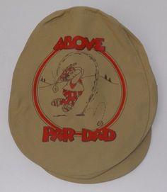 e791f954ced Above Par Dad Golf Golfing Newsboy Cabbie Gatsby Men s Hat Cap Rare Vintage   RussBerrieCo