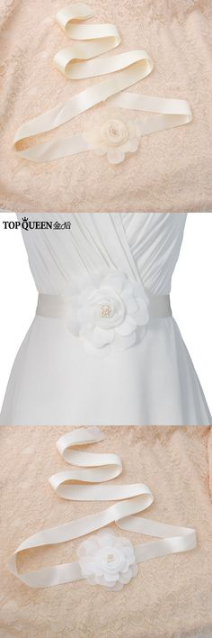 TOPQUEEN FREE SHIPPING S285 Bridal Fabric Flower Waist Belts Beautiful Flowers Wedding Belts Wedding sashes For Wedding