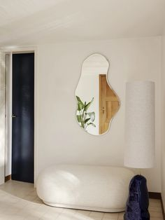 Home Interior Living Room Pond Mirror and Hebe Lamp Base by Ferm Living.Home Interior Living Room Pond Mirror and Hebe Lamp Base by Ferm Living Home Interior Design, Interior Decorating, Nordic Interior, Interior Livingroom, Small Apartment Interior, Decorating Ideas, Interior Sketch, Interior Plants, Interior Designing