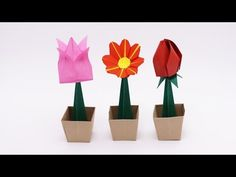 How to make an origami Flower Pot (with stem) Designed by Jo Nakashima (04/jun/2016) Support my channel! https://www.patreon.com/jonakashima ◆ Difficulty lev...